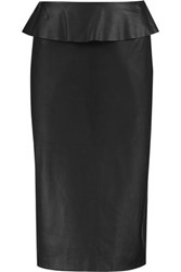 Iris And Ink Leather Pencil Skirt Black