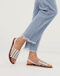 Warehouse Knotted Detail Sandal In White