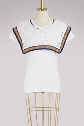 Michaela Buerger T Shirt With Knitted Detailing White