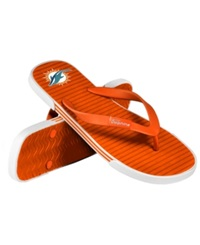 Forever Collectibles Miami Dolphins Thong Sandals Aqua