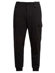 Alexander Mcqueen Applique Pocket Track Pants Black