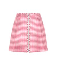 Prada Virgin Wool Miniskirt White