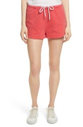 Frame Terry Track Shorts Faded Summer Red