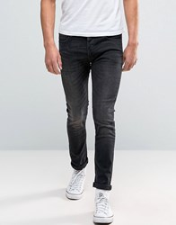 Denim And Supply Ralph Lauren Skinny Jeans Graham In Washed Black Black