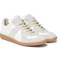 Maison Martin Margiela Replica Suede And Leather Sneakers White