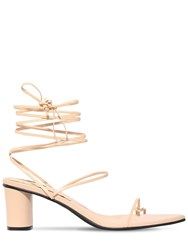 Reike Nen 60Mm Leather Lace Up Thong Sandals Nude