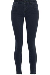Iro Woman Surfer Frayed Mid Rise Skinny Jeans Black