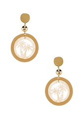 Ettika Palm Tree Earring Metallic Gold