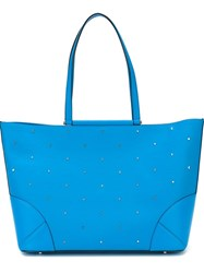 Mcm Medium 'Claudia Studs' Shopper Tote Blue