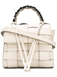 Elena Ghisellini Woven Tote Women Leather One Size Nude Neutrals