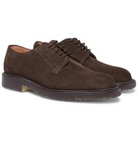 Cheaney Deal Suede Derby Shoes Brown