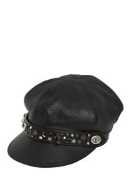 Coach 1941 Star Dust Studded Leather Biker Hat