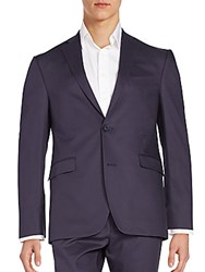 Saks Fifth Avenue Slim Fit Cotton Sportcoat Dark Navy