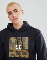 Dc Shoes Hoodie With Camo Box Logo Black