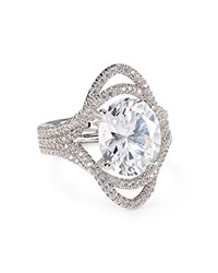 Nadri Pave Oval Ring Silver
