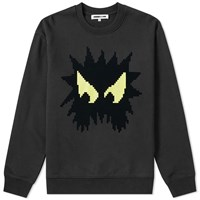 Mcq By Alexander Mcqueen Pixelated Monster Crew Sweat Black
