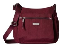 Baggallini New Classic Uptown Bagg With Rfid Phone Wristlet Eggplant Bags Purple