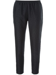 Stella Mccartney Tapered Leopard Jacquard Trousers Black