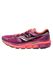 Saucony Zealot Iso Cushioned Running Shoes Magenta Coral Berry