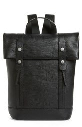 Treasure And Bond Remy Pebbled Leather Backpack Black