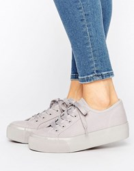 New Look Canvas Double Sole Trainer Mid Grey