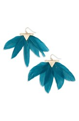 Panacea Feather Earrings Teal