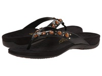 Vionic With Orthaheel Technology Floriana Black Croco Women's Sandals