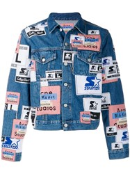 Acne Studios Collab Patch Denim Jacket Blue