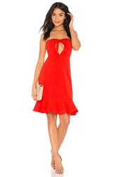 Endless Rose Bow Tie Strapless Dress Red