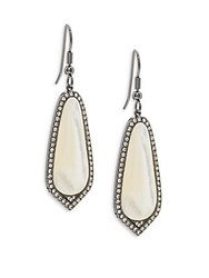 Saks Fifth Avenue Cubic Zirconia And Mother Of Pearl Drop Earrings