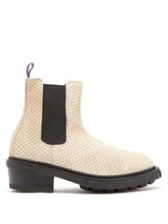 Eytys Nikita Fish Scale Effect Leather Chelsea Boots Brown