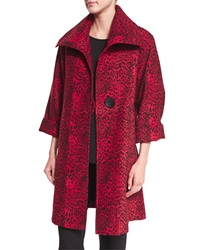 Caroline Rose Leopard Print Mid Weight Statement Coat Women's