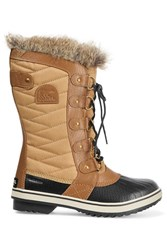 Sorel Tofino Waxed Canvas And Leather Boots Camel