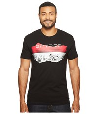 Spyder Limitless Tee Black Waterbased Ink Reflective Hits Men's T Shirt
