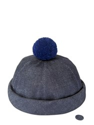 Beton Cire Handmade Denim Sailor Hat W Pompom