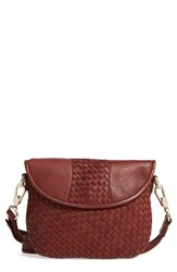 Robert Zur Nola Woven Leather Crossbody Brown Luggage