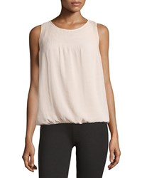 Max Studio Pleated Blouson Tank Pink