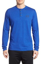 Men's Under Armour 'Sportstyle' Long Sleeve Charged Cotton Henley Royal