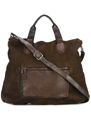 Numero 10 Leather Trimmed Bag Brown