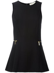 Michael Michael Kors Sleeveless Flared Blouse Black