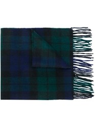Barbour Checked Scarf Blue