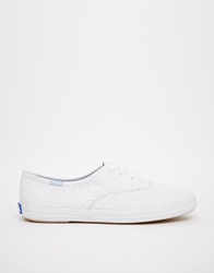 Keds Champion Eyelet White Embroidered Plimsoll Trainers