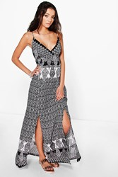 Boohoo Rosa Paisley Printed Maxi Dress Multi