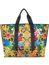 Versace Jeans Couture Printed Studded Tote Bag 60