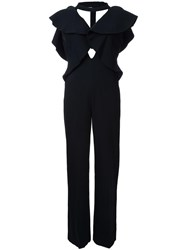 Goen.J Cut Out Detail Jumpsuit Black