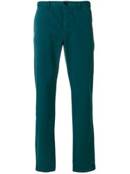 Paul Smith Ps By Chino Trousers Men Spandex Elastane Supima Cotton 38 Green