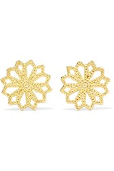 Grace Lee Lace Deco Vi 14 Karat Gold Earrings One Size