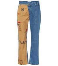 Monse Straight Leg Cropped Jeans Blue