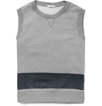 Tomas Maier Two Tone Fleece Back Cotton Jersey Vest Gray