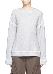 Helmut Lang Heavy Loop Back Terry Oversized Sweater Grey